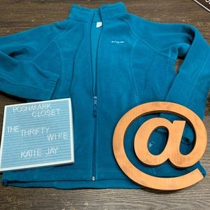 Columbia Fall Faves Jacket teal SZ women's Large